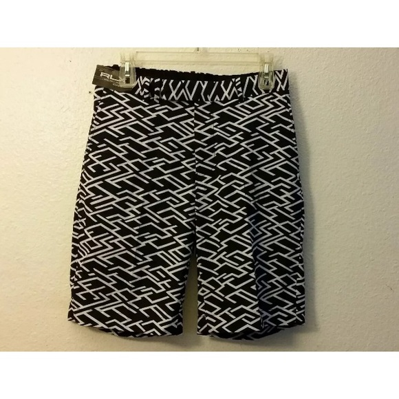 RLX Ralph Lauren Art Deco Golf Shorts Size 28 New